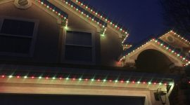 Green Red Christmas Holiday Lights Permanent Trimlight