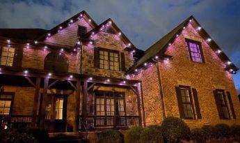 security lighting purple